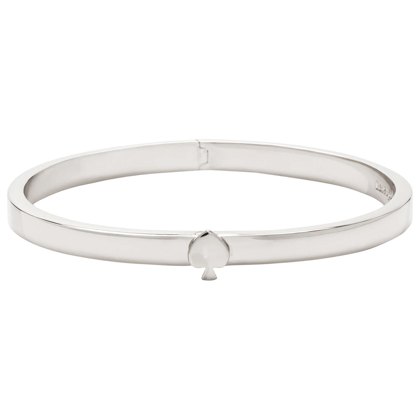 Buykate spade new york Thin Hinge Bangle, Silver Online at johnlewis.com