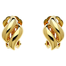 Buy Finesse Diamond Shape Clip-On Earrings Online at johnlewis.com