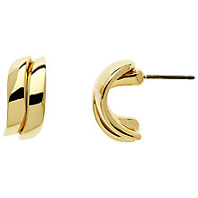 Buy Finesse Gold Plated Wave Stud Earrings, Gold Online at johnlewis.com