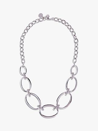 Karen Millen Oversize Chain Necklace, Silver