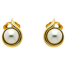 Buy Finesse Swarovski Pearl Curve Clip-On Earrings Online at johnlewis.com