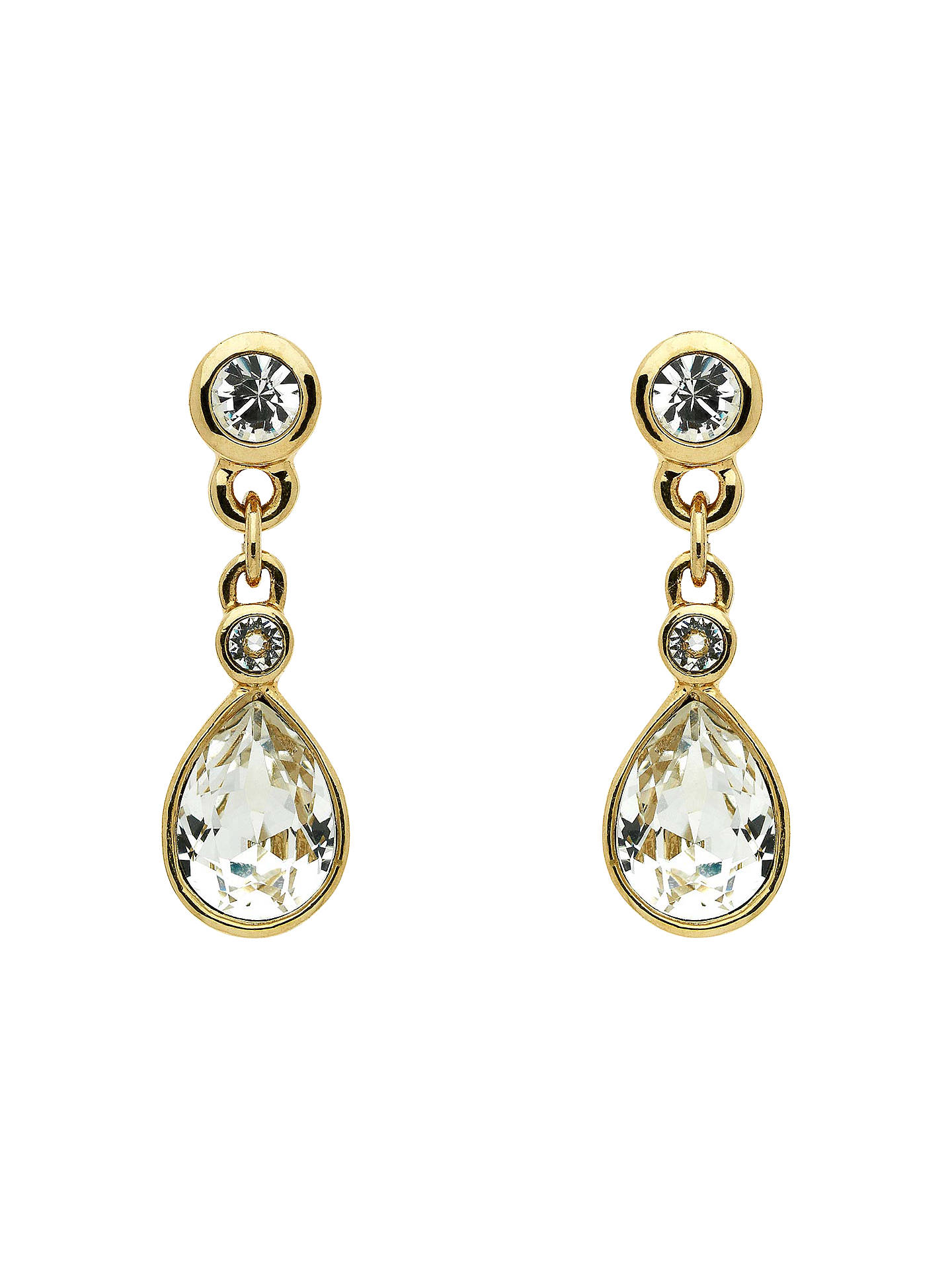 eff7616b3ea3 Buy Cachet Gold Plated Swarovski Crystal Pear Stone Drop Earrings