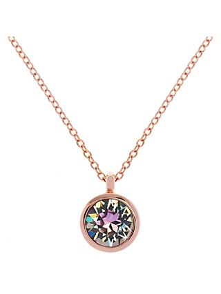 Karen Millen Swarovski Crystal Dot Pendant Necklace