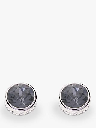 Karen Millen Logo Stud Earrings, Silver