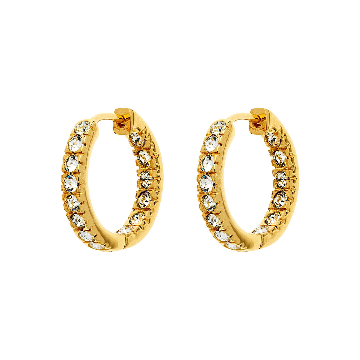 Finesse Gold Plated Cubic Zirconia Hoop Earrings Online At Johnlewis