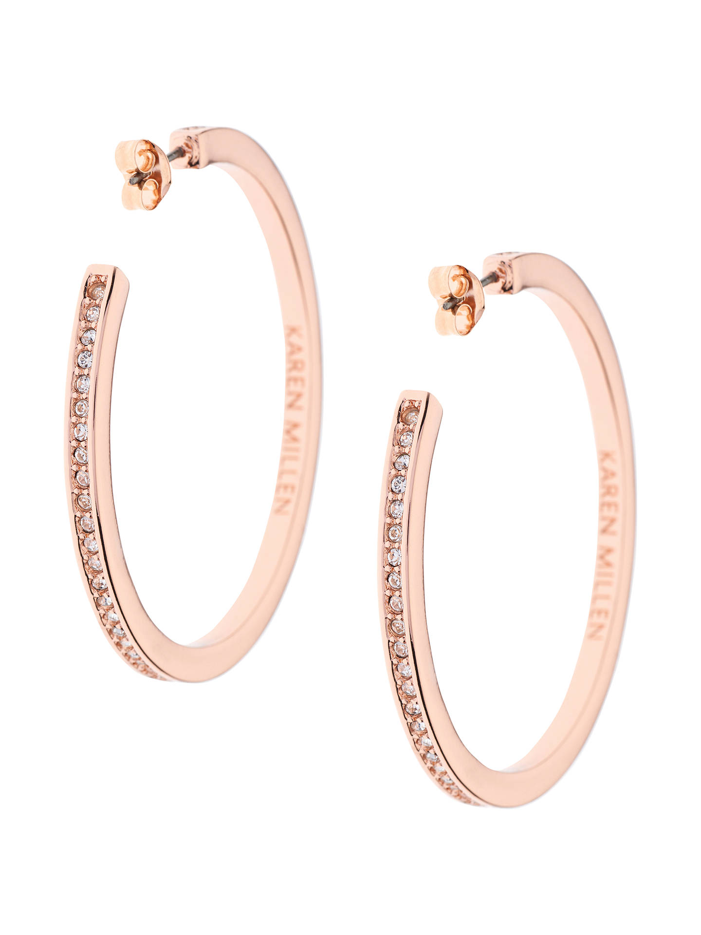 6a60a3eaf302 Buy Karen Millen Large Crystal Hoop Earrings