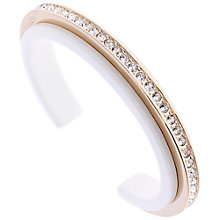 Buy Karen Millen Tropical Crystal Light Slim Cuff, Gold Online at johnlewis.com