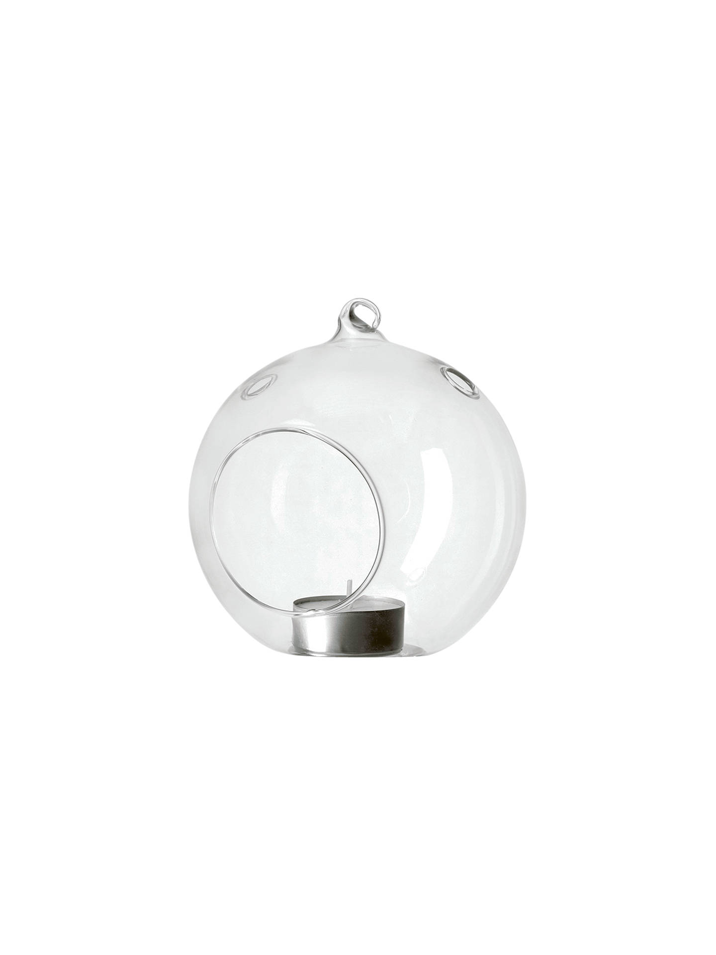 BuyJohn Lewis Hanging Glass Tealight Holder, Small Online at johnlewis.com