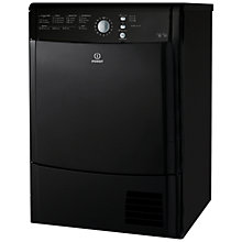 Buy Indesit IDCL85BHK Condenser Tumble Dryer, 8kg Load, B Energy Rating, Black Online at johnlewis.com