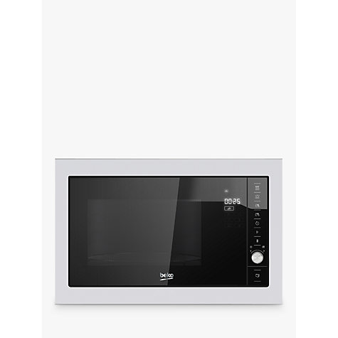 Beko Mgb25332bg Integrated Microwave Oven With Grill Stainless Steel Online At Johnlewis