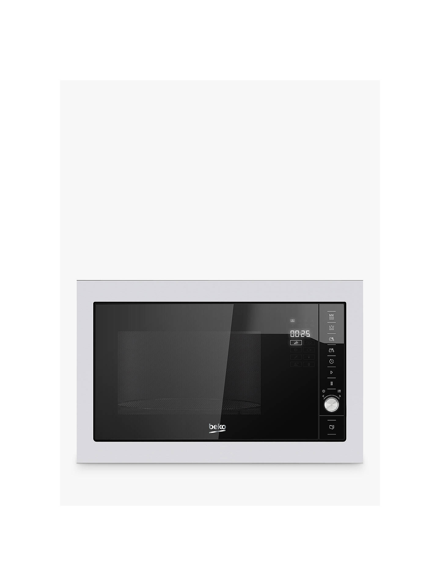 BuyBeko MGB25332BG Integrated Microwave with Grill, Stainless Steel Online at johnlewis.com
