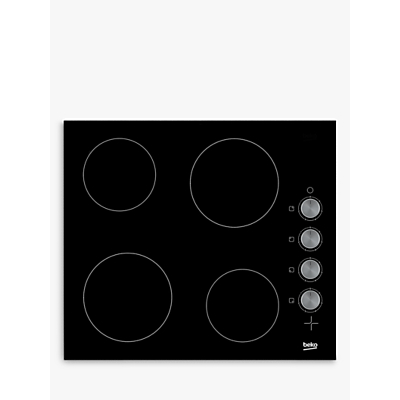 Beko HCC64103 Frameless Electric Ceramic Hob, Black