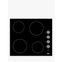 Buy Beko HCC64103 Frameless Electric Ceramic Hob, Black Online at johnlewis.com