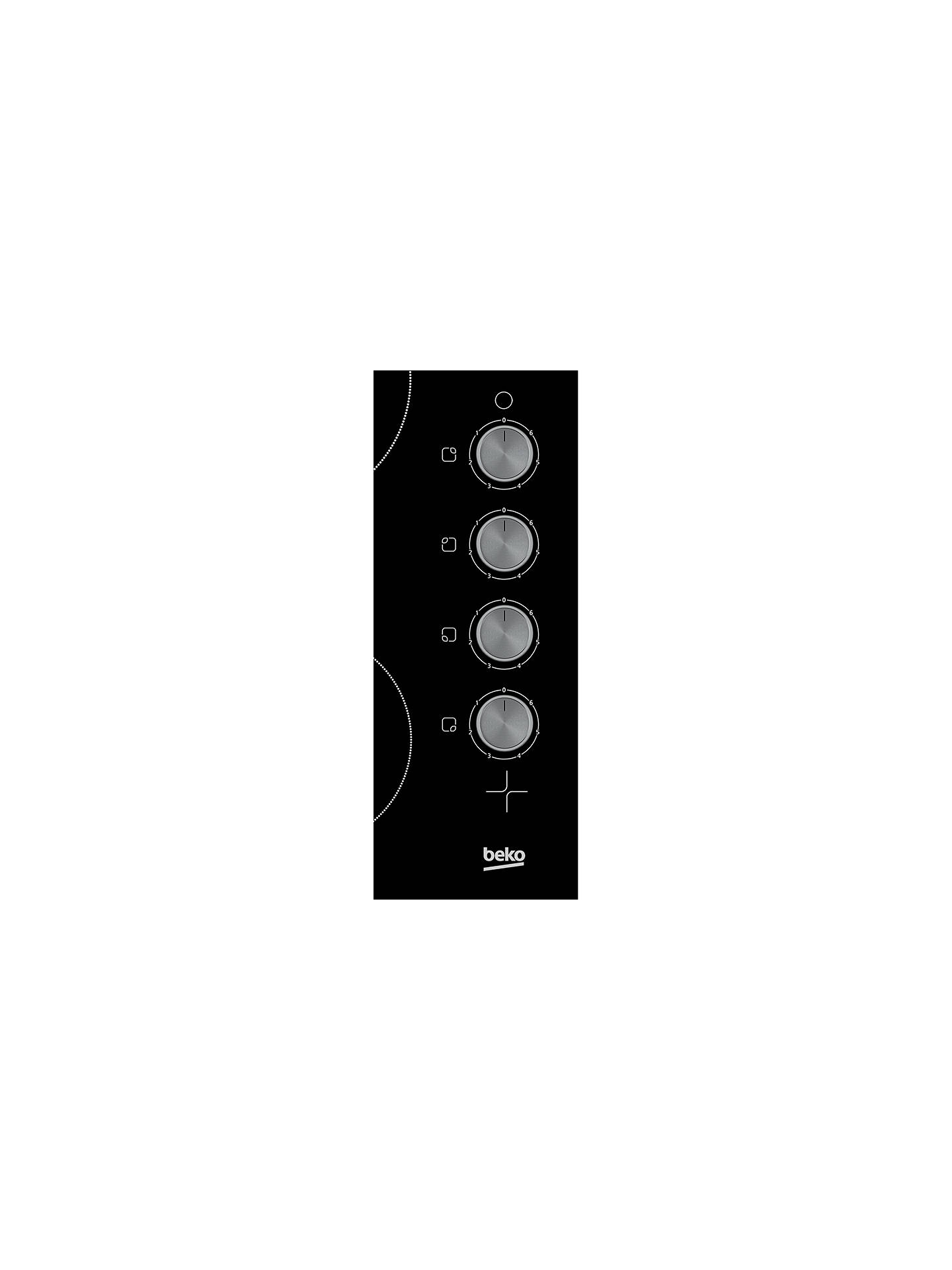 BuyBeko HCC64103 Frameless Electric Ceramic Hob, Black Online at johnlewis.com
