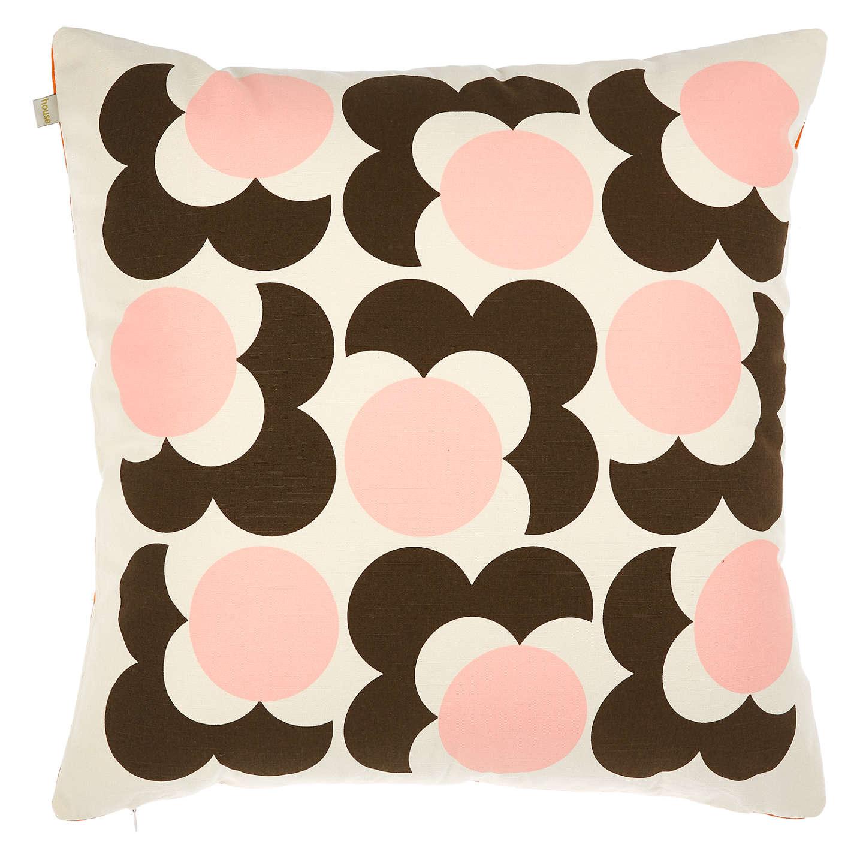 Buyorla Kiely Bigspot Flower Reversible Cushion, Nutmeg Online At Johnlewiscom
