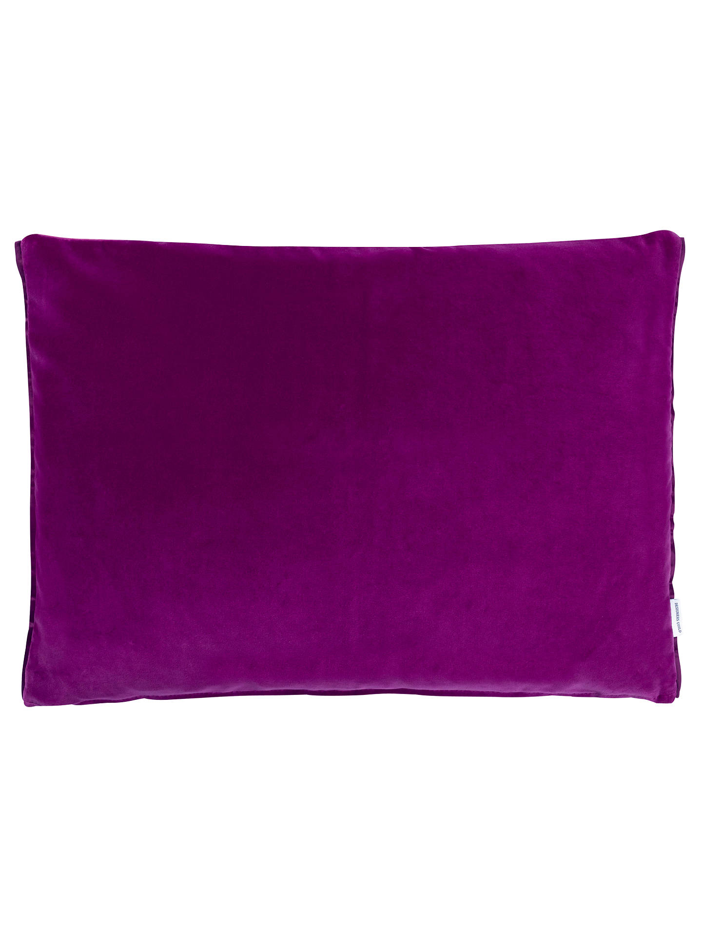 Buy Designers Guild Cassia Velvet Cushion, Magenta / Damson Online at johnlewis.com