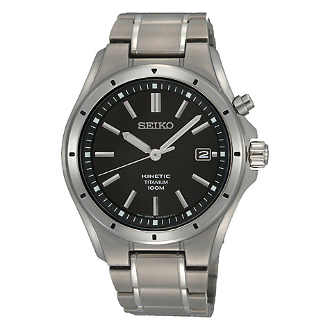seiko men s watches john lewis buy seiko ska493p1 men s titanium bracelet strap watch silver black online at johnlewis