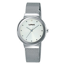 Buy Lorus Women's Mesh Bracelet Strap Watch Online at johnlewis.com