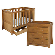 Buy Silver Cross Canterbury Cotbed and Dresser Set, Oak Online at johnlewis.com