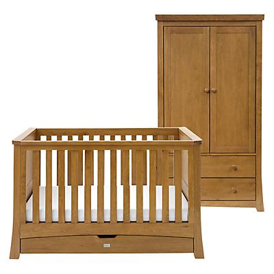 Silver Cross Canterbury Cot Bed and Wardrobe Set, Oak