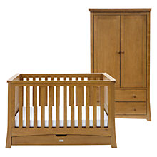 Buy Silver Cross Canterbury Cot Bed and Wardrobe Set, Oak Online at johnlewis.com