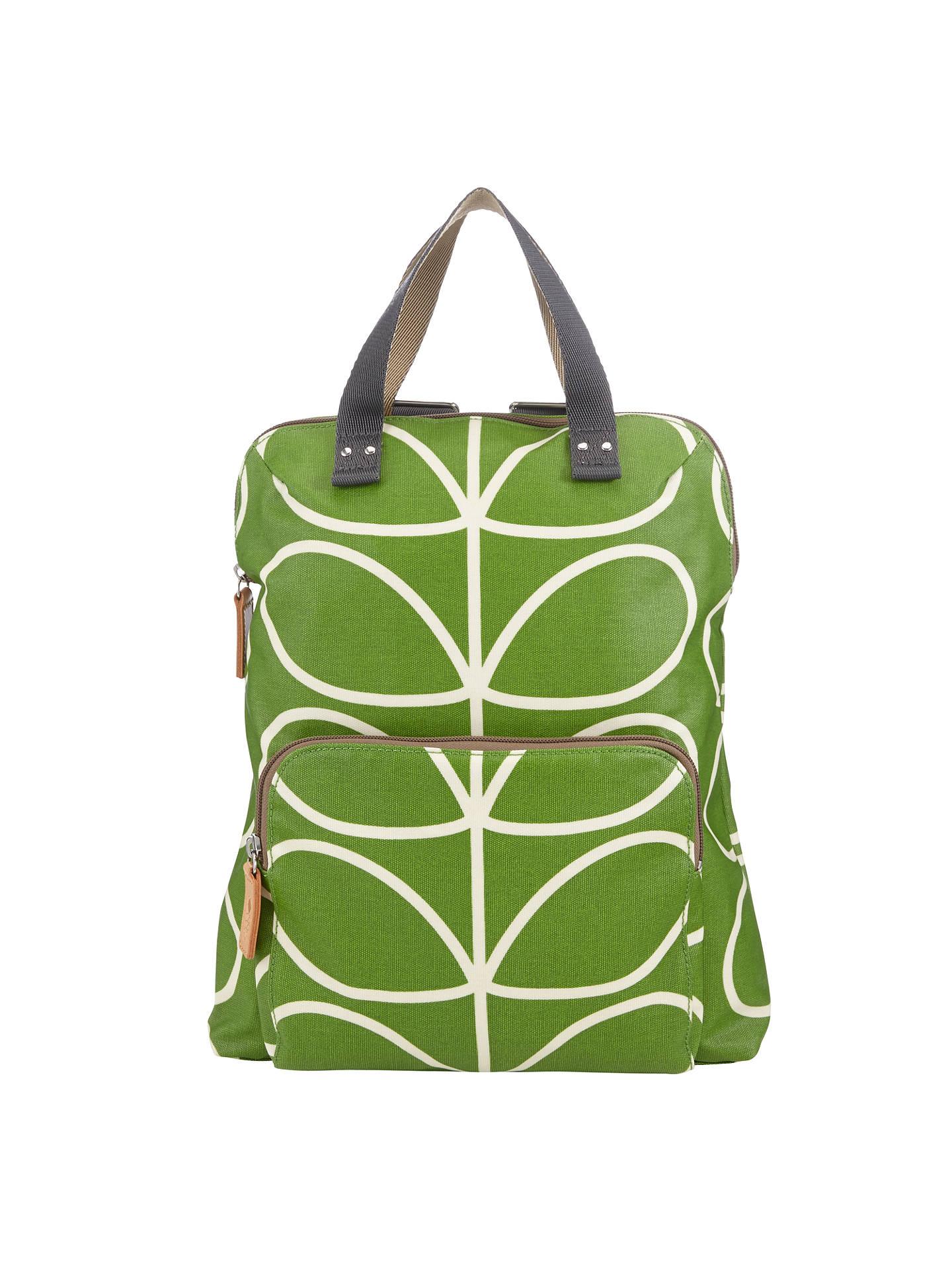 Orla Kiely Matt Stem Backpack Tote Green At John Lewis