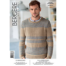 Buy Bergere De France Coton Fifty Unisex Sweater and Cardigan Knitting Pattern, 70387 Online at johnlewis.com