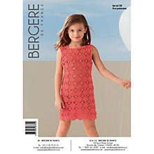Buy Bergere De France Coton Fifty Children's Dress Crochet Pattern, 42720 Online at johnlewis.com