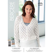 Buy Bergere De France Coton Fifty Women's Cardigan Crochet Pattern, 70402 Online at johnlewis.com