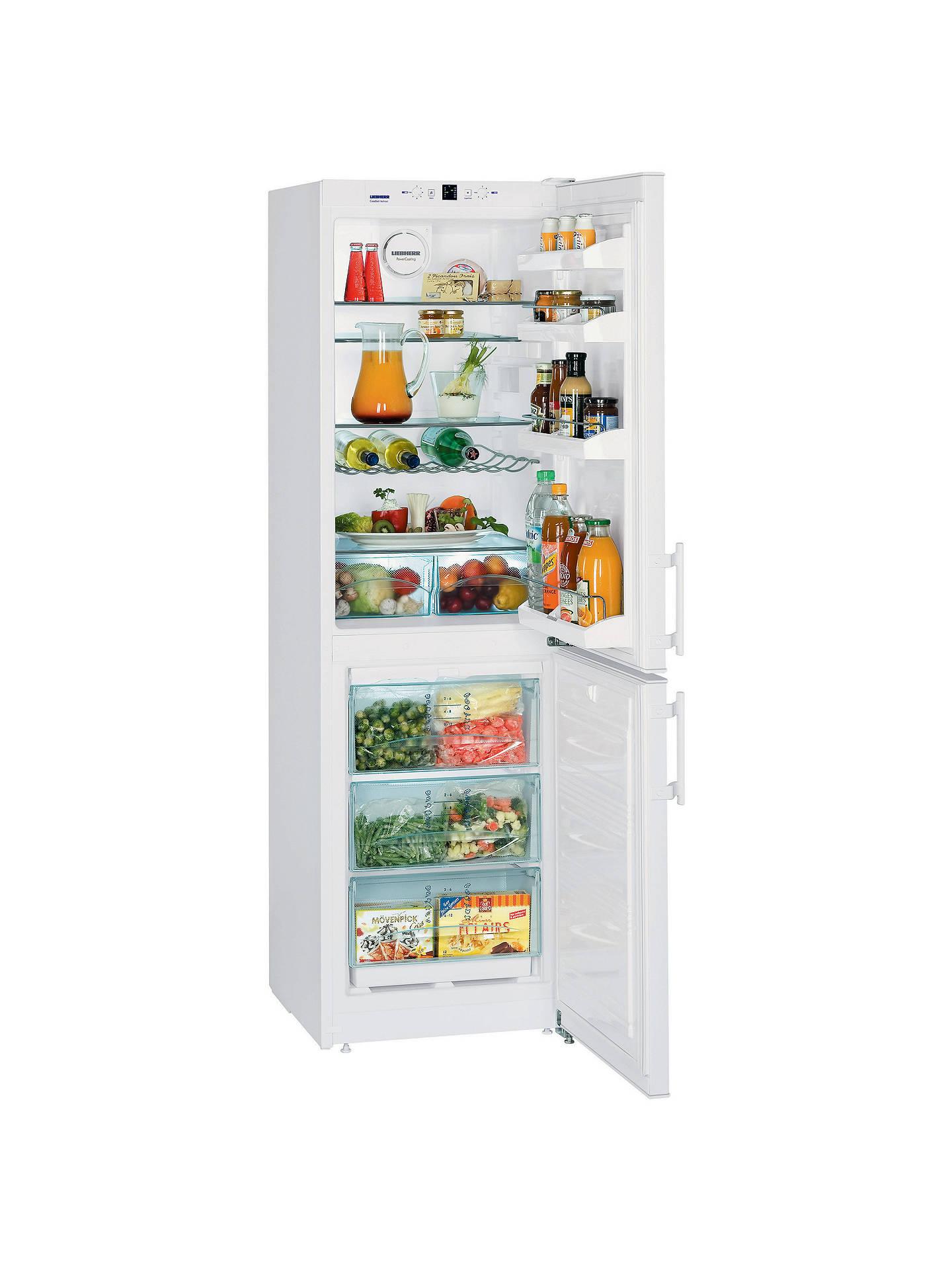 Liebherr CN3033 Comfort NoFrost Freestanding Fridge Freezer, A+ Energy  Rating, 55cm Wide, White