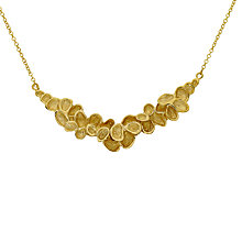 Buy London Road 9ct Gold Leaves Necklace, Gold Online at johnlewis.com