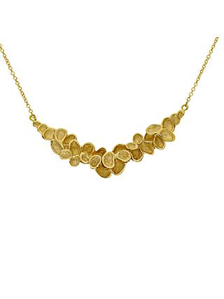 London Road 9ct Gold Leaves Necklace, Gold