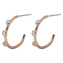Buy London Road 9ct Gold Diamond Hoop Earrings Online at johnlewis.com