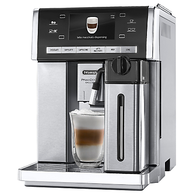 De'Longhi ESAM6900.M PrimaDonna Exclusive Bean-to-Cup Coffee Machine, Stainless Steel