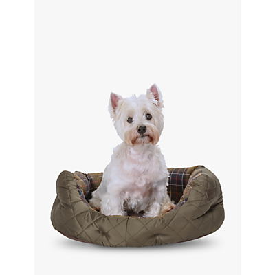 Image of Barbour Quilted Dog Bed, Medium