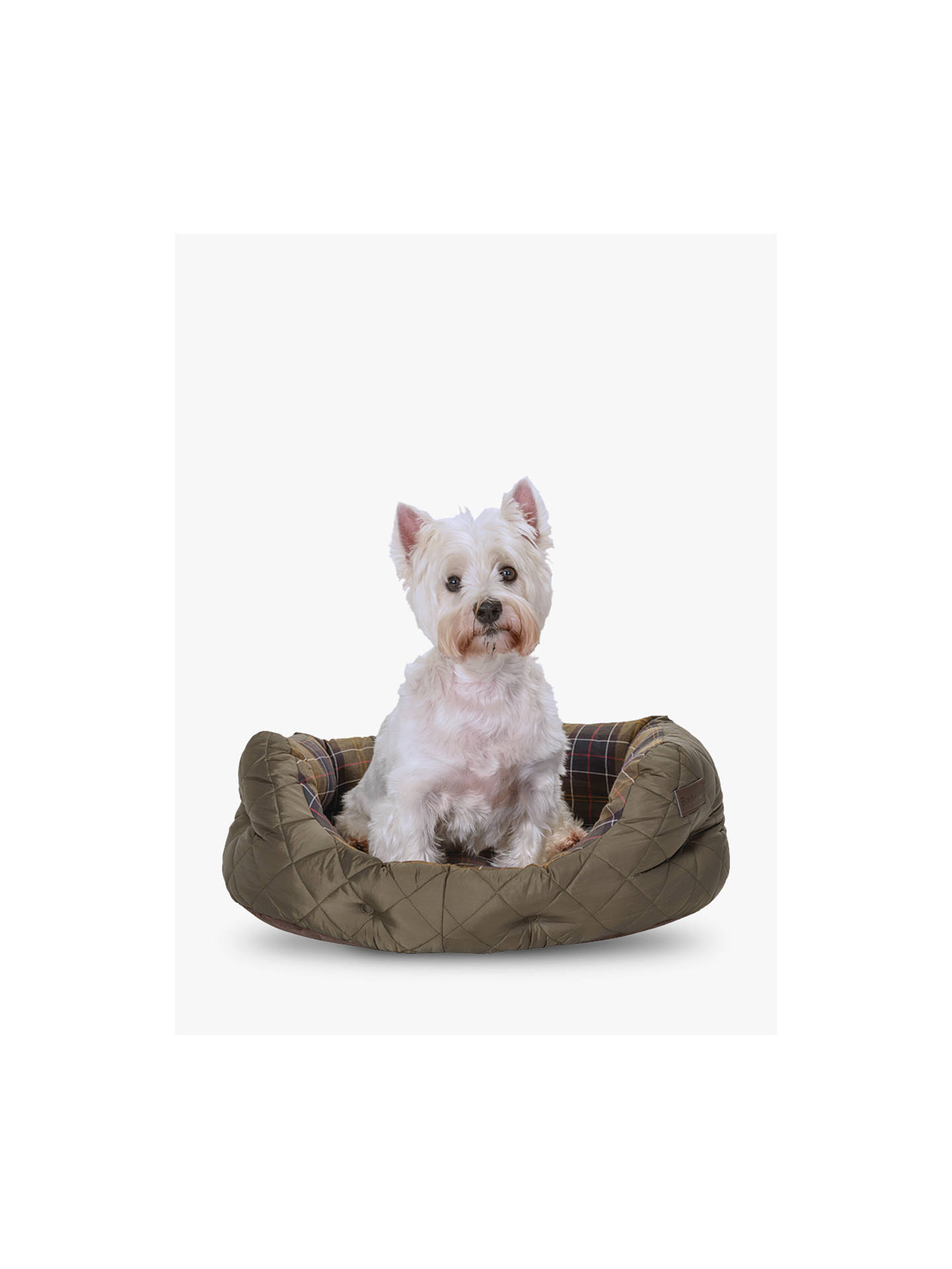 BuyBarbour Quilted Dog Bed, Medium Online at johnlewis.com