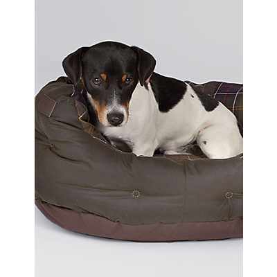 Image of Barbour Waxed Cotton Dog Bed, 45cm