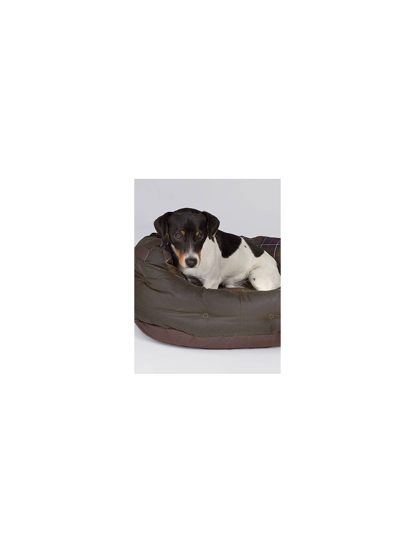 Buy Barbour Waxed Cotton Dog Bed, 45cm Online at johnlewis.com