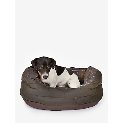 Image of Barbour Waxed Cotton Dog Bed, 61cm