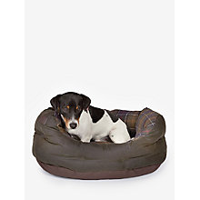 Buy Barbour Waxed Cotton Dog Bed, 61cm Online at johnlewis.com