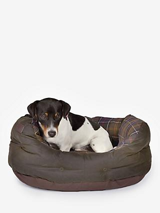 Barbour Waxed Cotton Dog Bed, 61cm