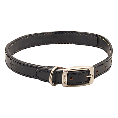 Image of Barbour Leather Dog Collar, Black