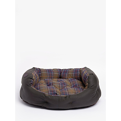 Image of Barbour Tartan Quilted Dog Bed