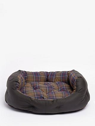 Barbour Tartan Quilted Dog Bed