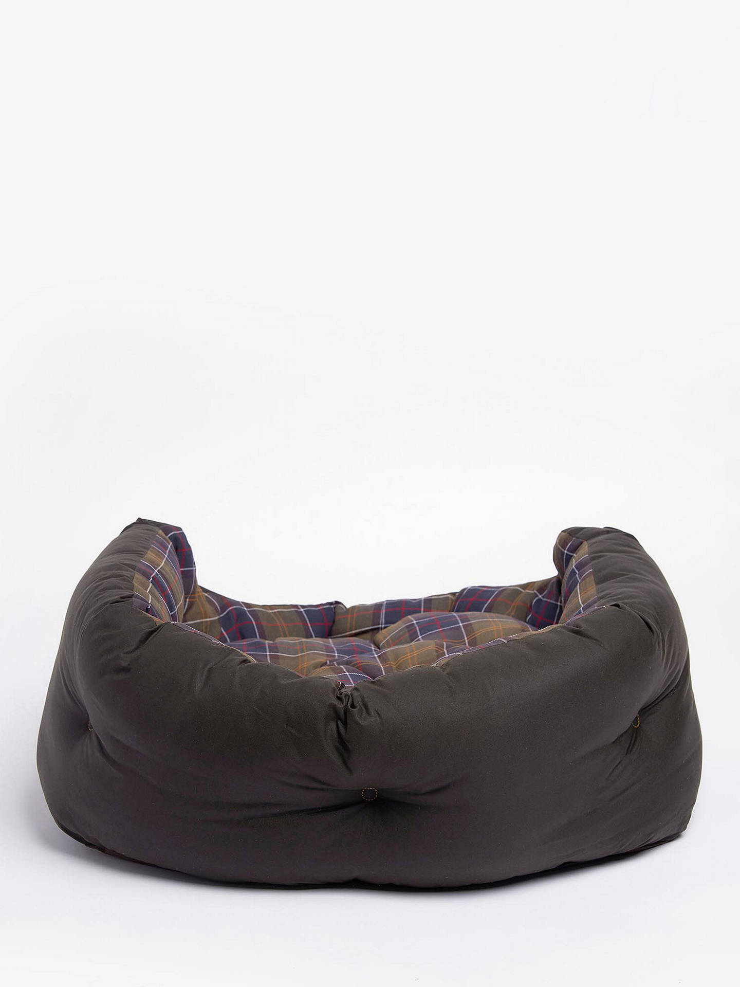 BuyBarbour Tartan Quilted Dog Bed Online at johnlewis.com