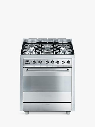 Smeg C7GPX8 Symphony Range Cooker, Stainless Steel