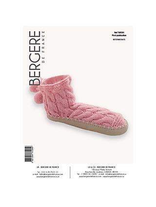 Bergere De France Sport Slippers Knitting Pattern, 70594