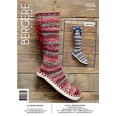 Bergere De France Goomy 50 Slippers Knitting Pattern, 42775