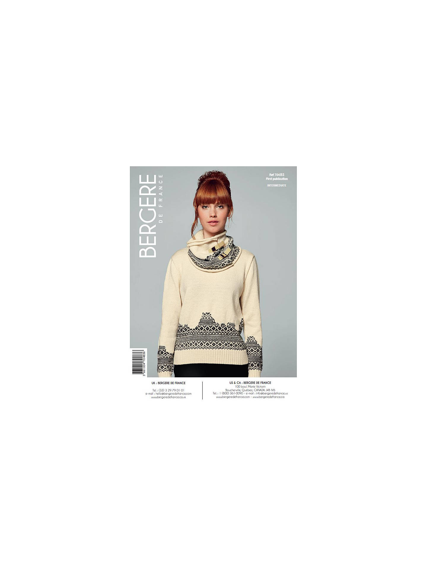 BuyBergere De France Ideal Women's Jacquard Sweater Knitting Pattern, 70483 Online at johnlewis.com