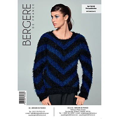 Product photo of Bergere de france plume women s sweater knitting pattern 70536